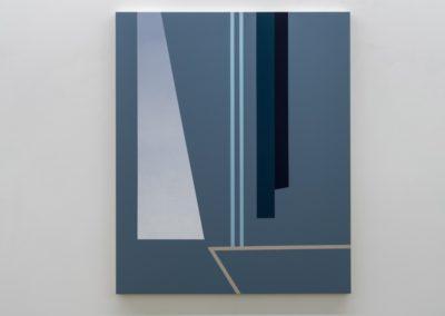 Daniel Langevin, Double leçon 2016 Acrylique et huile sur toile montée sur panneau 48 x 39.5 pouces  Crédit Photo : Guy L'Heureux