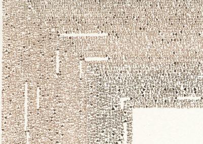 Simon Bertrand, Retranscription de L'Épopée de Gilgamesh 2010-2014 (détail) Crédits photo : Simon Bertrand