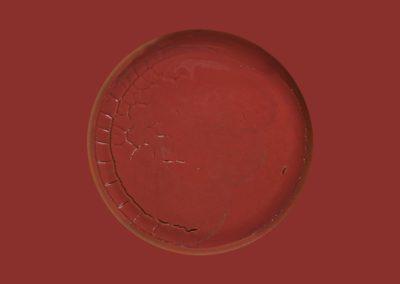 Dépôt de peinture (rouge), 2011 Édition 2/2 Impression au jet d'encre sur papier Moab Entrada 33 x 20 pouces  Crédit Photo : Guy L'Heureux