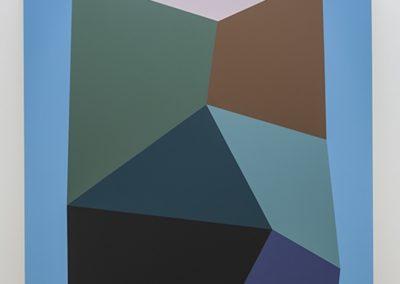Daniel Langevin, Entrave (BC) 2013 Acrylique et huile sur toile 90 x76 pouces  Crédit Photo : Guy L'Heureux