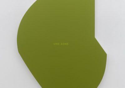 Une zone verte, 2002 Acrylique sur toile montée sur contreplaqué laminé 54 x 33 pouces Crédit Photo : Guy L'Heureux