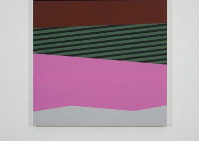 Daniel Langevin, Palissade III 2010 Acrylique et huile sur toile 60 x 48 pouces  Crédit Photo : Guy L'Heureux