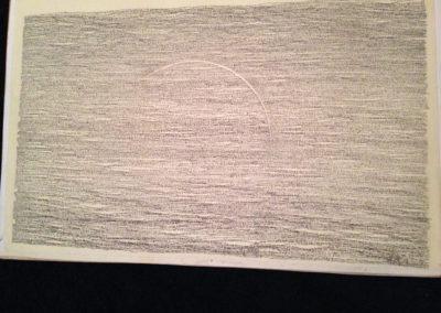 Simon Bertrand, 78 Ophélie, 2016, Crayon à l'encre sur papier, Ophélie de Rimbaud, 76 x 45 cm Crédits photo : Simon Bertrand