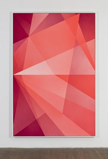 Densité neutre _ 2, 2010 peinture vinylique en aérosol sur carton archive 4 plis 232,7 x 156,5 cm 91.6 x 61.6 pouces Crédits photo : Richard-Max Tremblay