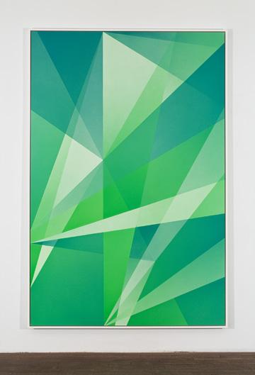 Densité neutre _ 5, 2010 peinture vinylique en aérosol sur carton archive 4 plis 232,7 x 156,5 cm 91.6 x 61.6 pouces  Crédits photo : Richard-Max Tremblay