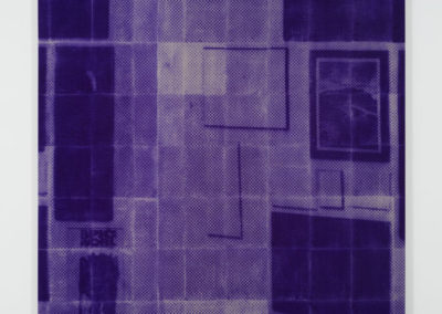 Nicolas Lachance, Intérieur (Les Particules), 2016 Impression sur papier carbone transférée sur toile 244 x 183 cm / 96 x 72 pouces  Crédit Photo: Richard-Max Tremblay
