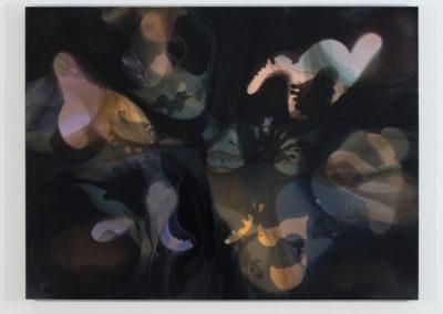 Phase V : concrétion I, 2015, Encre et acrylique sur toile, 121,9 x 162,6 cm / 48 x 64 pouces  Crédit Photo: Richard-Max Tremblay