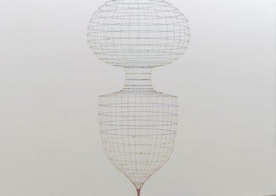 Sarah Stevenson, Sans titre (Swag) 1999 moustiquaire et plastique 227 x 490 x 86 cm (Galerie René Blouin, 2016)
