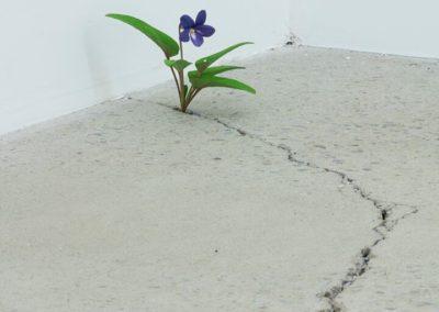 """Yoshihiro Suda,  """"Violet"""" Violet, 2016 bois de magnolia et pigments dimensions variables"""