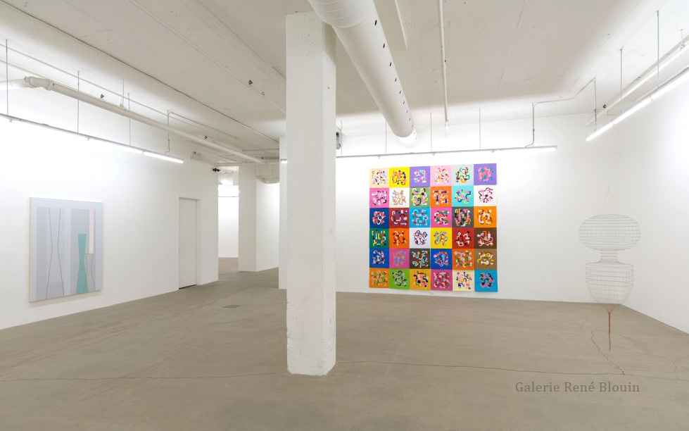 Galerie René Blouin Exposition du 30e anniversaire 20 août au 8 octobre 2016, Sarah Stevenson, Daniel Langevin,  Crédit photo : Guy L'Heureux
