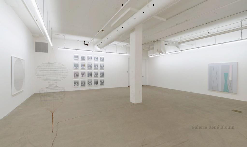 Galerie René Blouin Exposition du 30e anniversaire 20 août au 8 octobre 2016, Sarah Stevenson, Daniel Langevin, Pascal Grandmaison,  Crédit photo : Guy L'Heureux