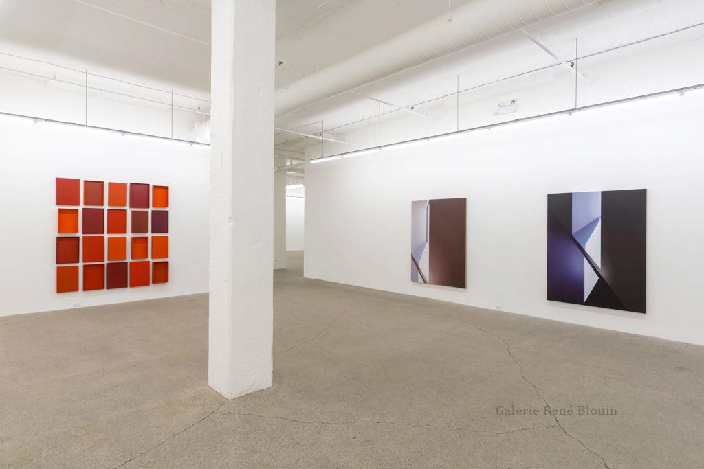 Galerie René Blouin Exposition du 30e anniversaire 20 août au 8 octobre 2016, Pierre Dorion, François Lacasse, Genevieve Cadieux,  Crédit photo : Guy L'Heureux