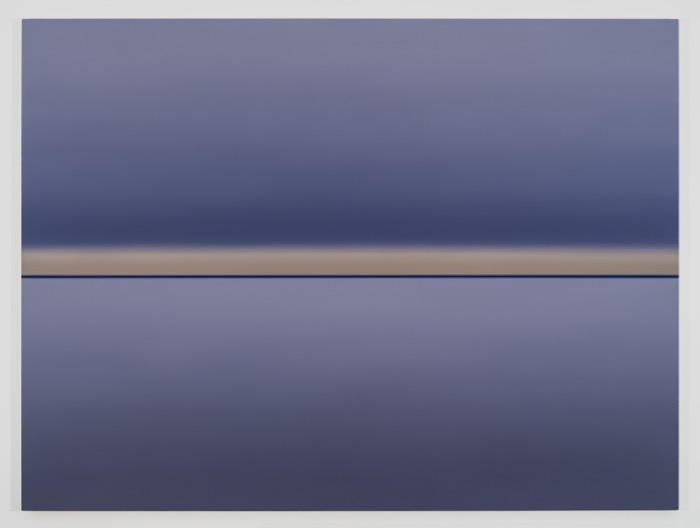 Vauvert, 2015, huile sur toile de lin, 182,8 x 243,8 cm / 72 x 96 pouces, Pierre Dorion, Vue de l'exposition Crédit Photo: Richard-Max Tremblay
