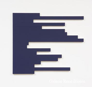 Francine Savard, S = 4 % 2006 Acrylique sur toile marouflée sur contreplaqué russe 72,4 x 83,8 cm, Vue de l'exposition, 2 x 100% (2007)