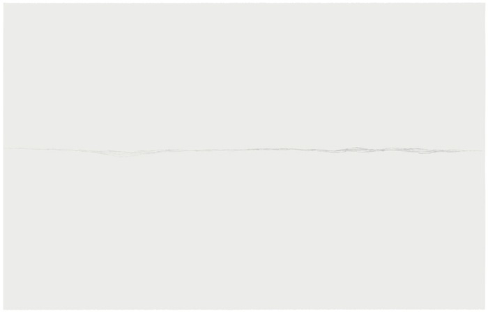 Marie-Claire Blais, Malgré-moi 2, 2006 mine de plomb sur papier Stonehenge monté sur carton muséologique, 127 x 203,2 cm / 50 x 80 pouces, Vue de l'exposition, Blancs Marie-Claire Blais | Geneviève Cadieux | Chris Kline28 juin au 20 septembre 2014, Crédit photo : Guy L'Heureux