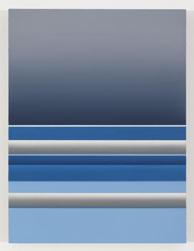 Corsica II, 2012, huile sur toile de lin, 83,8 x 63,5 cm / 33 x 25 pouces, Vue de l'exposition: Pierre Dorion 10 novembre au 22 décembre 2012