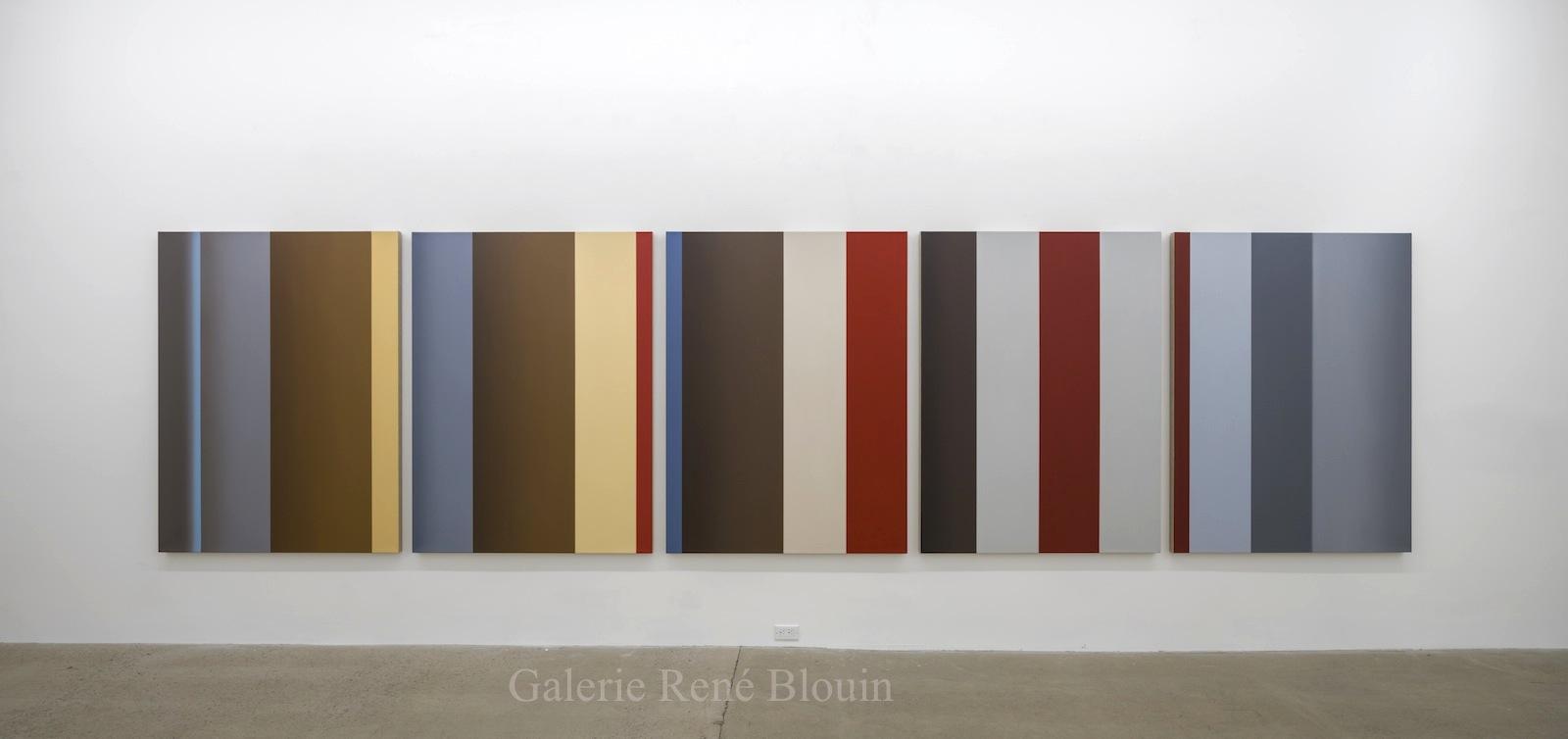 Vue d'installation, 2016 Pierre Dorion, Sans titre (DB), 2012   Géométries (2016)