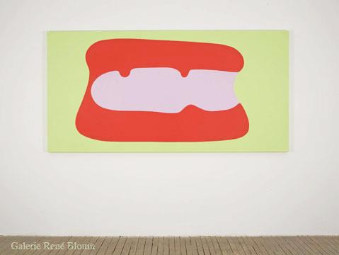Daniel Langevin Les aisances (#019), 2006 émail sur bois 121,9 x 243,8 cm / 48 x 96 pouces
