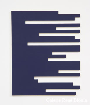 Francine Savard, P = 8 % 2006  Acrylique sur toile marouflée sur contreplaqué russe 102,9 x 83,8 cm, Vue de l'exposition, 2 x 100% (2007)