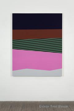 Daniel Langevin, Palissade III, 2010, Acrylique et huile sur toile, 60 x 48 pouces,  Crédit Photo : Guy L'Heureux