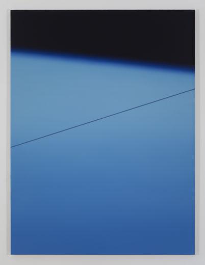 Wire, 2013, huile sur toile de lin, 182,9 x 137,2 cm / 72 x 54 pouces, Vue de l'exposition : Pierre Dorion, Salle 3 : 12 avril au 21 juin 2014