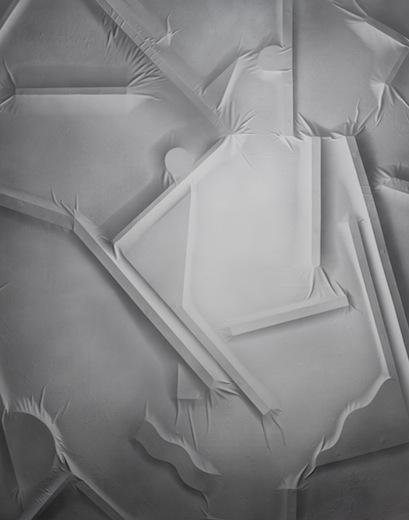 Full repeatable view 022, 2014 acrylique sur toile de coton, 210 x 166 cm / 82.6 x 65.3 pouces, Vue de l'exposition : Anthony Burnham15 novembre au 20 décembre 2014,Photo: Guy L'Heureux