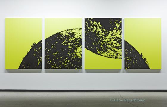 Pascal Grandmaison, MOMENT OF REASON, 2011 édition 1/2 4 impressions au jet d'encre montées sur aluminium 139,7 x 111,7 cm / 55 x 44 pouces chaque panneau, 25 ans : Exposition de groupe, Vue de l'exposition (2011) Photo: Richard-Max Tremblay