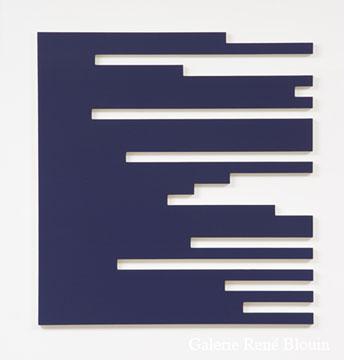 Francine Savard, D = 10 % 2006 Acrylique sur toile marouflée sur contreplaqué russe 102,9 x 96,5 cm, Vue de l'exposition, 2 x 100% (2007)