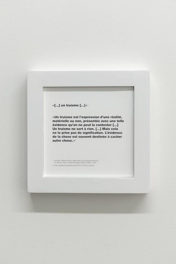 Francine Savard, Truisme, Vue de l'exposition : Yoshihiro Suda & Francine Savard 2016, Crédit photo : Guy L'Heureux