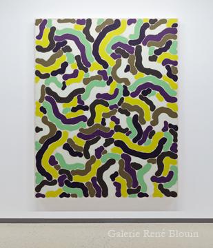 Grande compilation IV 2011 huile sur toile 189,5 x 152,5 cm / 75 x 60 pouces, François Lacasse, Vue de l'exposition (2011), Crédit photo : Mathieu Sirois