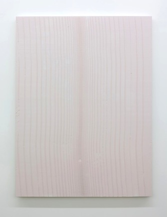 Tracé d'un clair-obscur_3, 2015, plâtre pigmenté monté sur panneau de bois, 152 x 144 cm / 59 x 56 pouces. Marie-Claire Blais, Vue de l'exposition (2015) Photo: Richard-Max Tremblay