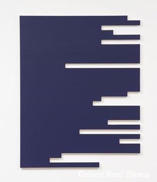 Francine Savard, E = 12 % 2006 Acrylique sur toile marouflée sur contreplaqué russe 121,9 x 96,5 cm, Vue de l'exposition, 2 x 100% (2007)
