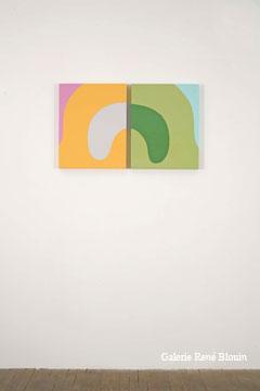 Daniel Langevin Stianes (#005), 2007 diptyque, émail sur bois 50,8 x 83,8 cm / 20 x 33 pouces l'ensemble