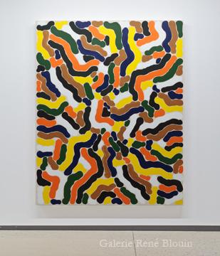 Grande compilation III 2011 huile sur toile 189,5 x 152,5 cm / 75 x 60 pouces, François Lacasse, Vue de l'exposition (2011), Crédit photo : Mathieu Sirois