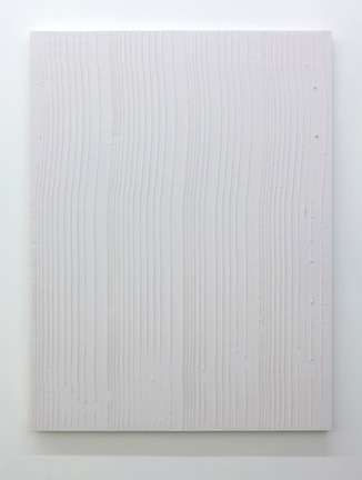Tracé d'un clair-obscur_5, 2015, plâtre pigmenté monté sur panneau de bois,152 x 144 cm / 59 x 56 pouces, Marie-Claire Blais, Vue de l'exposition (2015) Photo: Richard-Max Tremblay