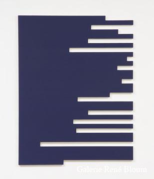 Francine Savard, C = 13 % 2006 Acrylique sur toile marouflée sur contreplaqué russe 125,7 x 96,5 cm, Vue de l'exposition, 2 x 100% (2007)