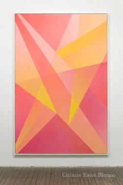 Densité neutre _ 4, 2010 peinture vinylique en aérosol sur carton archive 4 plis 232,7 x 156,5 cm / 91.6 x 61.6 pouces, Marie-Claire Blais, Vue de l'exposition (2010) Photo: Richard-Max Tremblay