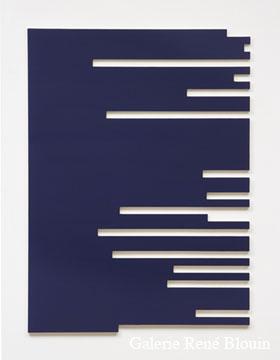 Francine Savard, Q = 19 % 2006 Acrylique sur toile marouflée sur contreplaqué russe 156,2 x 114,3 cm, Vue de l'exposition, 2 x 100% (2007)