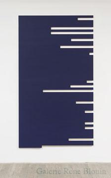 Francine Savard, N = 32 % 2006 Acrylique sur toile marouflée sur contreplaqué russe 217,2 x 122 cm, Vue de l'exposition, 2 x 100% (2007)