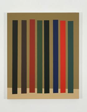Platebande (II), 2010 acrylique et huile sur toile 91,5 x 76,2 cm / 36 x 30 pouces, Vue de l'exposition (2011), Daniel Langevin, Photos: Richard-Max Tremblay
