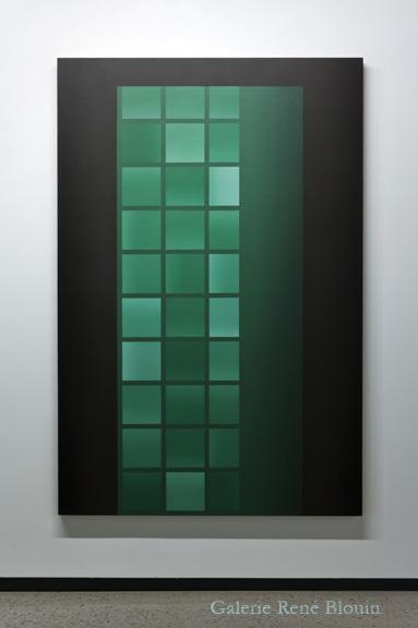 Pierre Dorion, PORTAIL, 2011 huile sur toile de lin 182,8 x 137 cm / 72 x 54 pouces, 25 ans : Exposition de groupe, Vue de l'exposition (2011) Photo: Richard-Max Tremblay
