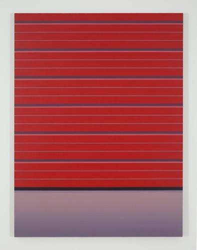 Red Gate, 2015, huile sur toile de lin, 152,4 x 114,3 cm / 60 x 45 pouces, Pierre Dorion, Vue de l'exposition Crédit Photo: Richard-Max Tremblay