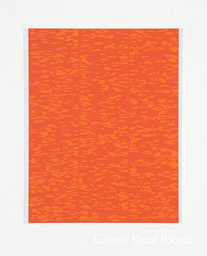 Francine Savard, Tableau déterminé N = 32 % 2007 Acrylique sur toile marouflée sur contreplaqué russe 78,5 x 60,5 cm, Vue de l'exposition, 2 x 100% (2007)