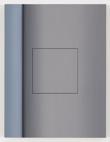 Vestibule III, 2012, huile sur toile de lin, 83,8 x 63,5 cm / 33 x 25 pouces, Vue de l'exposition: Pierre Dorion 10 novembre au 22 décembre 2012