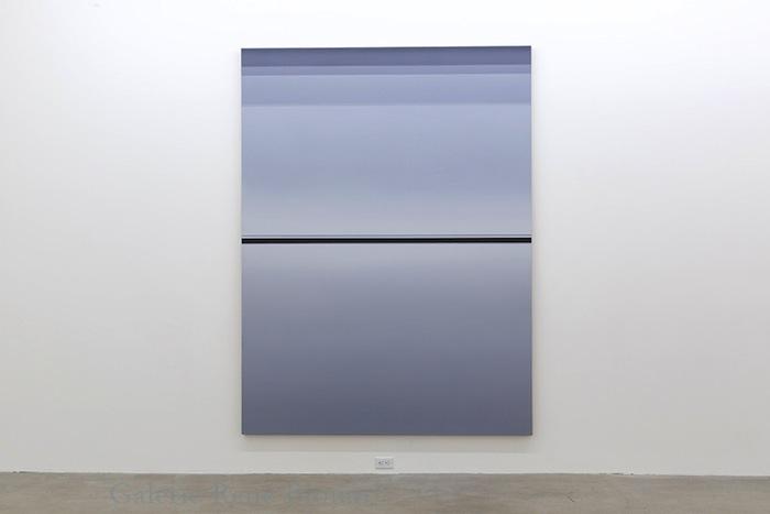Pierre Dorion, Sans titre (BG), 2013 huile sur toile de lin, 243,8 x 182,8 cm / 96 x 72 pouces, Vue de l'exposition: Miroirs 30 novembre 2013 au 25 janvier 2014, Photo: Guy L'Heureux