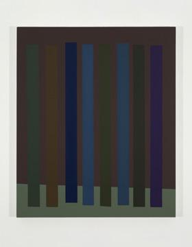 Platebande (I), 2010 acrylique et huile sur toile 91,5 x 76,2 cm / 36 x 30 pouces, Vue de l'exposition (2011), Daniel Langevin, Photos: Richard-Max Tremblay