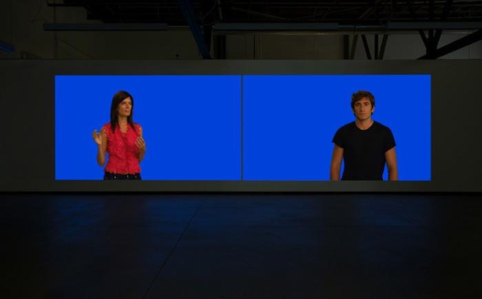 Geneviève Cadieux, Pas de deux, 2012 éd : 1/3, vidéo HD, couleurs, pas de son, durée : 12 minutes Vue de l'exposition (2012) Photo: Richard-Max Tremblay, Exposition 12 mai au 16 juin 2012