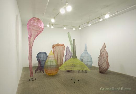 Sarah Stevenson, Forest (2005) fil métallique et tissus 11 éléments de dimensions variables, 24 novembre 2007 - 12 janvier 2007