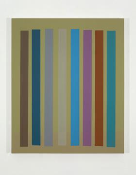 Platebande (VII), 2010 acrylique et huile sur toile 91,5 x 76,2 cm / 36 x 30 pouces, Vue de l'exposition (2011), Daniel Langevin, Photos: Richard-Max Tremblay
