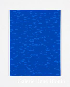 Francine Savard, Tableau déterminé E = 12 % 2007 Acrylique sur toile marouflée sur contreplaqué russe 78,5 x 60,5 cm, Vue de l'exposition, 2 x 100% (2007)